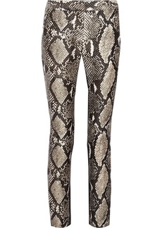 Diane von Furstenberg Mary printed wool and silk-blend straight-leg pants