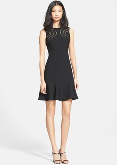 Diane von Furstenberg 'Maureen' Ladder Stitch Drop Waist Dress