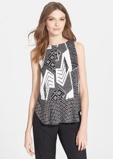 Diane von Furstenberg 'Maya' Print Stretch Silk Top