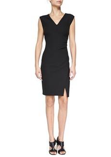 Diane von Furstenberg Megan V-Neck Mock-Wrap Sheath Dress