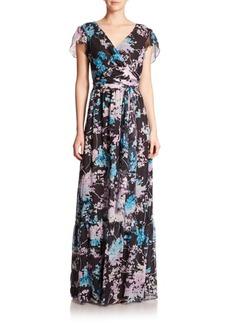Diane von Furstenberg Melania Printed-Silk Gown