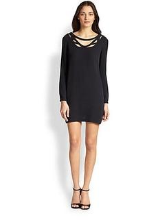 Diane von Furstenberg Melanie Silk Cutout Longsleeve Dress