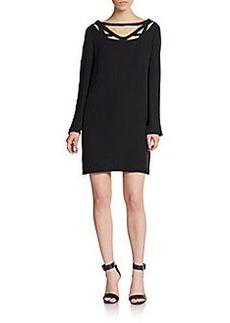 Diane von Furstenberg Melanie Silk Cutout-Yoke Dress