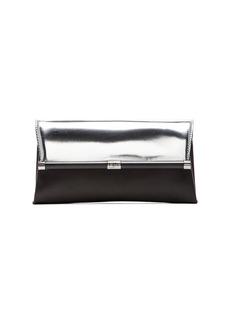 Diane von Furstenberg Metallic Envelope Clutch