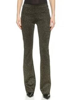 Diane von Furstenberg Metallic Knit Pants