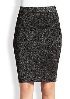 Diane von Furstenberg Metallic Knit Pencil Skirt