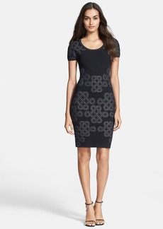 Diane von Furstenberg Metallic Sheath Dress