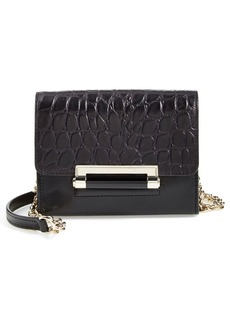 Diane von Furstenberg 'Micro Mini 440' Croc Embossed Leather Crossbody Bag