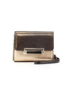 Diane von Furstenberg Micro Mini Crossbody Bag, Black/Bronze