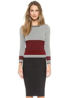 Diane von Furstenberg Microstitch Sweater