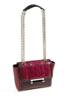 Diane von Furstenberg 'Mini 440' Leather & Genuine Snakeskin Crossbody Bag