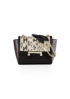 Diane von Furstenberg Mini Snakeskin Crossbody Bag, Natural Roccia/Flint