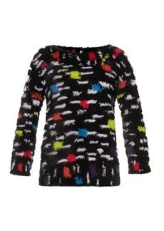 Diane Von Furstenberg Mink sweater
