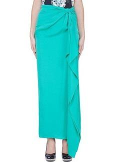 Diane Von Furstenberg Mint Silk Knotted Copa Skirt
