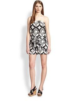 Diane von Furstenberg Miranda Cotton & Silk Strapless Printed Short Jumpsuit