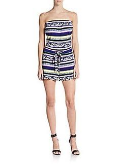 Diane von Furstenberg Miranda Silk Strapless Short Jumpsuit