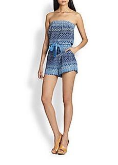 Diane von Furstenberg Miranda Strapless Short Jumpsuit