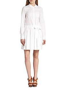Diane von Furstenberg Montana Pleated Shirtdress