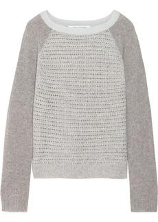 Diane von Furstenberg Nanette open-knit cashmere sweater