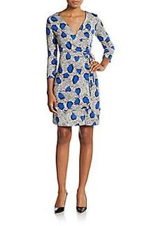 Diane von Furstenberg Naoki Silk-Jersey Wrap Dress