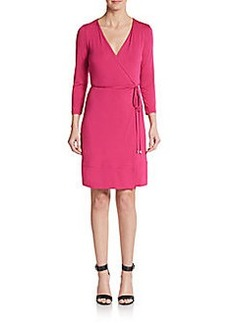 Diane von Furstenberg Naoki Three-Quarter Sleeve Wrap Dress
