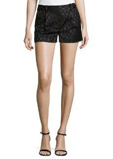 Diane von Furstenberg Naples Diamond Jacquard Shorts, Black