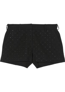 Diane von Furstenberg Naples Hot Fix Crystal embellished crepe shorts