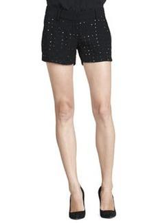 Diane von Furstenberg Naples Hot-Fix Crystal Shorts