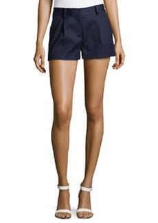 Diane Von Furstenberg Naples Linen-Blend Shorts, Bright Ink