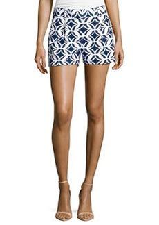 Diane von Furstenberg Naples Shorts, Ikat Batik Catalina