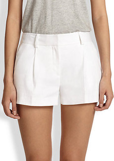 Diane von Furstenberg Naples Stretch Linen-Blend Shorts