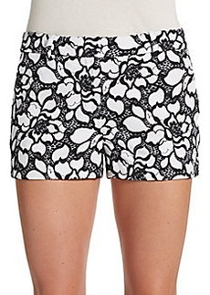 Diane von Furstenberg Napoli Embroidered Shorts