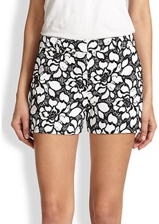 Diane von Furstenberg Napoli Floral Lace-Print Shorts