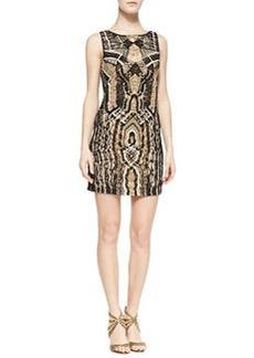 Diane von Furstenberg Neapoli Macramé Dress, Black/Beige/White