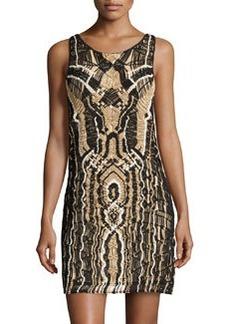 Diane von Furstenberg Neapoli Shimmer Woven Dress, Black/New Pearl/Gold