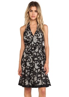Diane von Furstenberg New Amelia Halter Dress in Black