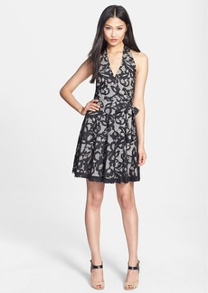 Diane von Furstenberg 'New Amelia' Lace Halter Dress