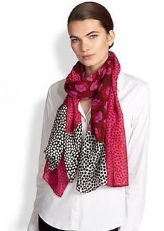 Diane von Furstenberg New Boomerang Floral Silk Scarf