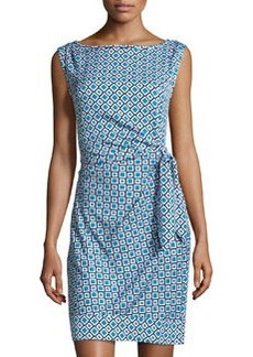 Diane von Furstenberg New Della Check Sheath Dress, Ocean