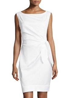 Diane Von Furstenberg New Della Tie-Waist Dress, White