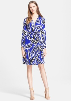 Diane von Furstenberg 'New Jeanne 2' Print Silk Jersey Wrap Dress