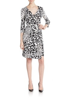 Diane von Furstenberg New Jeanne Floral Wrap Dress