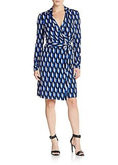 Diane von Furstenberg New Jeanne Geo-Print Wrap Dress