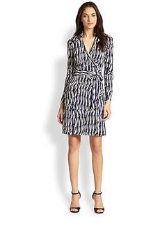 Diane von Furstenberg New Jeanne Silk Jersey Wrap Dress