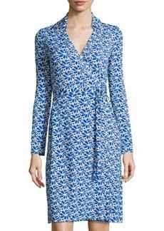 Diane von Furstenberg New Jeanne Two Printed Wrap Dress, Lace Petals Blue