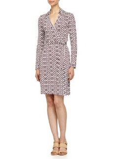 Diane von Furstenberg New Jeanne Two Wrap Dress, Moroccan Floral/Elderberry