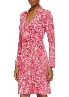 Diane von Furstenberg New Jeanne Two Wrap Dress, Serpent Jazzberry