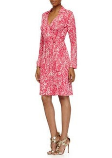 Diane von Furstenberg New Jeanne Two Wrap Dress, Serpent Jazzberry