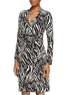 Diane von Furstenberg New Jeanne Collar Wrap Dress, Black