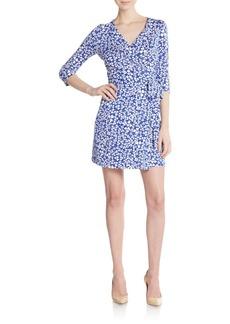 Diane von Furstenberg New Julian Clover-Print Cotton & Silk Jersey Wrap Dress
